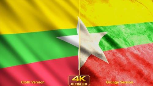 Myanmar Flags