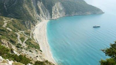 Famous Myrtos on Kefalonia Island Greece