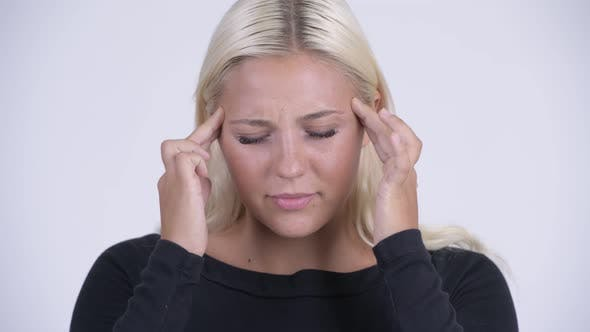 Thumbnail for Face of Young Stressed Blonde Woman Having Headache