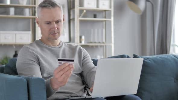 Thumbnail for Online Shopping on Laptop By Casual Gray Hair Man, Online Banking