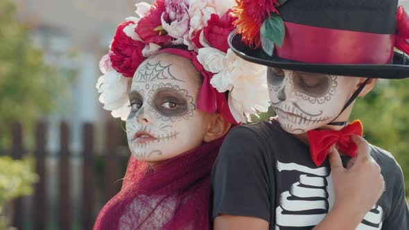 Thumbnail for Portrait of Kids in Halloween Costumes