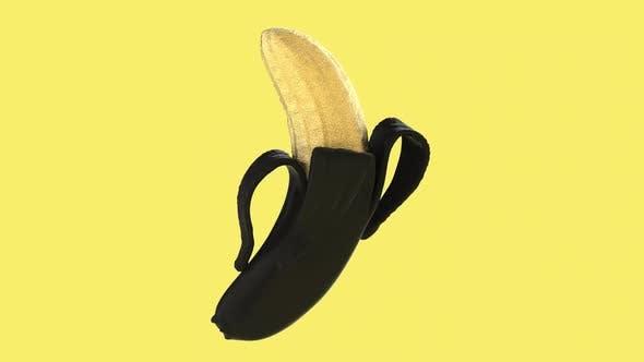 Golden Banana Rotation Animated Background