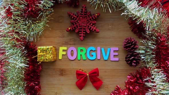 Thumbnail for Forgive Word with Christmas Decoration