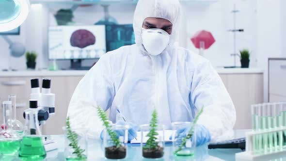 Thumbnail for Scientific Researcher Looking at Plants Sample