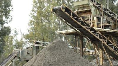 Sand Conveyor in a Sand Quarry
