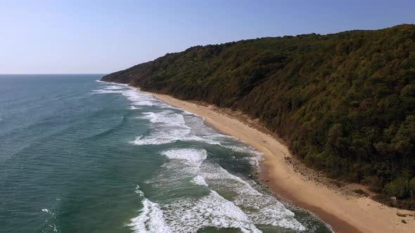 Thumbnail for View of drone to the beautiful beach