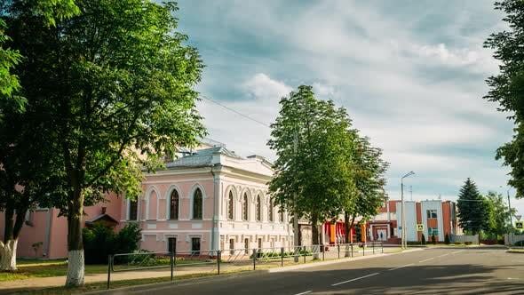 Vetka, Belarus. Vetka Museum Of Old Belief And Belarusian Traditions. Time Lapse, Timelapse, Time
