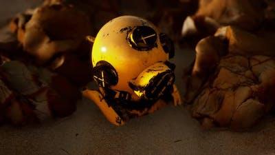Copper Old Vintage Deep Sea Diving Helmet