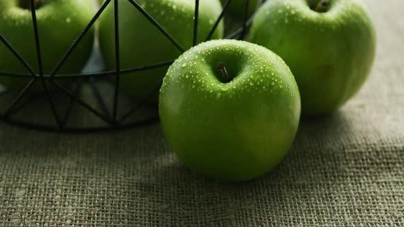 Thumbnail for Green Fresh Wet Apples