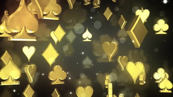 Falling Poker Symbols