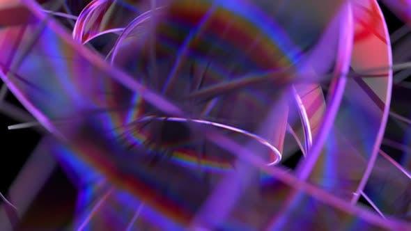 Rotating Purple Glass Rings