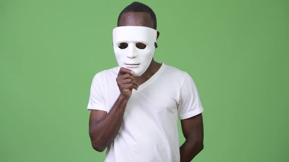 Thumbnail for Young African Man with White Mask