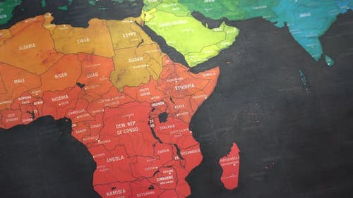 Afrika Weltkarte