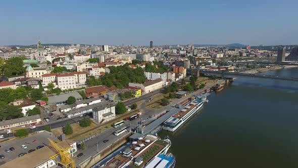 Thumbnail for Aerial View of Belgrade Citys in Serbia