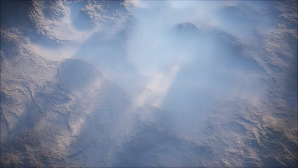 Thumbnail for Distant Mountain Range and Thin Layer of Fog on the Valleys