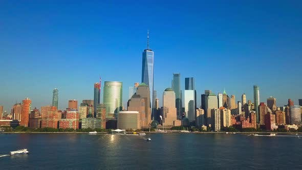 Thumbnail for New York City Lower Manhattan Skyline with Freedom Tower