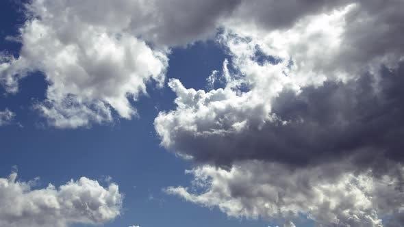 Spring High Cumulus Rain Clouds