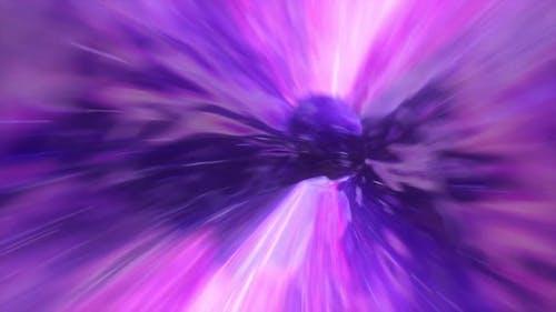Galaxy Travel Through Wormhole