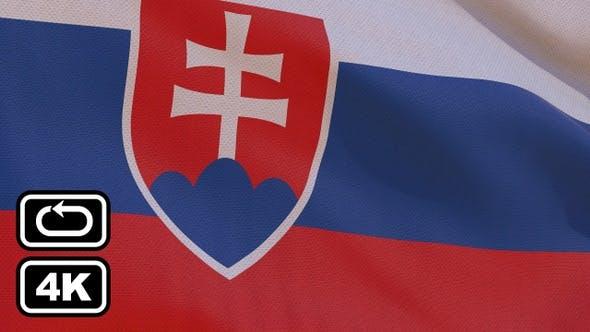 Thumbnail for Slovakia Flag 4K Seamless Loop