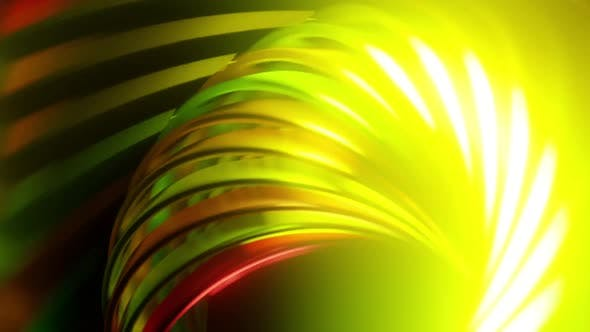 Abstract Glowing Spiral Twisted Shape
