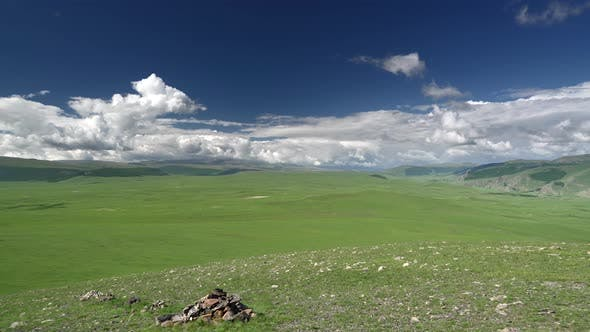 Vast Empty Meadows of Central Asian Geography