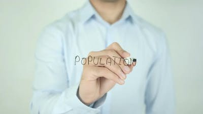 Population, Writing On Screen