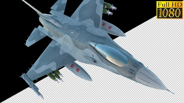 Thumbnail for Combat Jet Fighter On Alpha Channel Loops V2