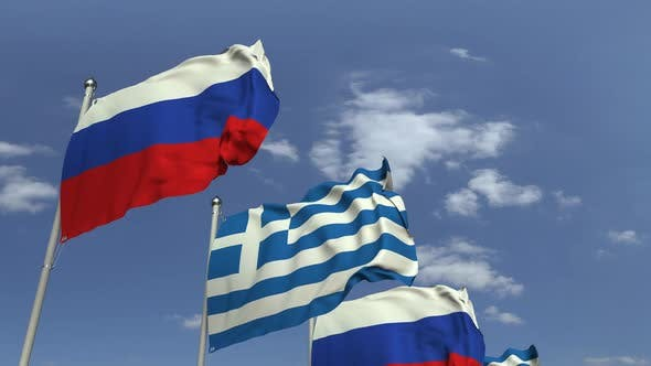 Thumbnail for Many Flags of Greece and Russia