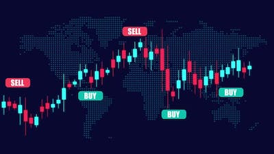 Cryptocurrency Trading chart with Buy and sell calls