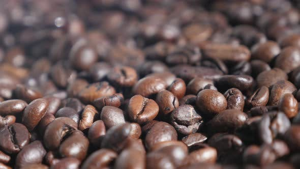 Thumbnail for Shallow DOF roasted coffee beans 4K footage