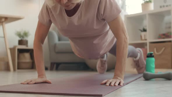 Thumbnail for Senior Woman Doing Push Ups