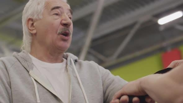 Thumbnail for Old Sportsman Preparing for Fight