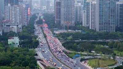 Guangzhou Highway Traffic Cityscape China