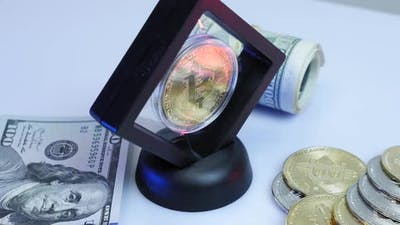 Cryptocurrency mining. Online trading. Digital money. Blockchain