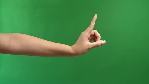 Female Making Stop Gesture With Hand Isolated On White Background