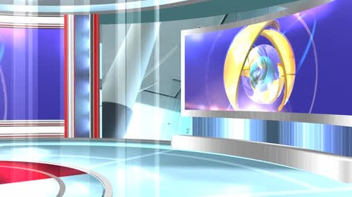 Virtual News Studio Set Background 401