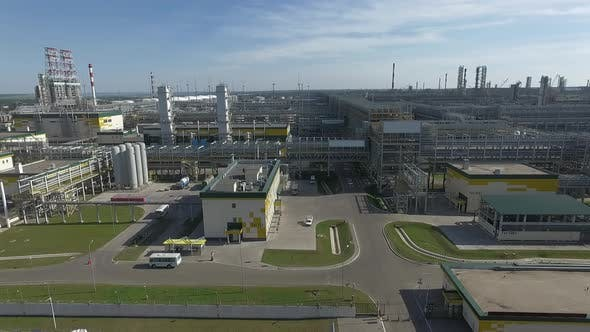 Thumbnail for An Aerial View of an Oil Refinery Units Under the Sunny Sky