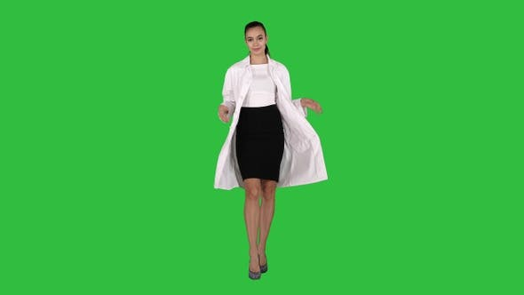 Thumbnail for Attractive female doctor walking