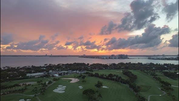 Sunset in Miami 4K