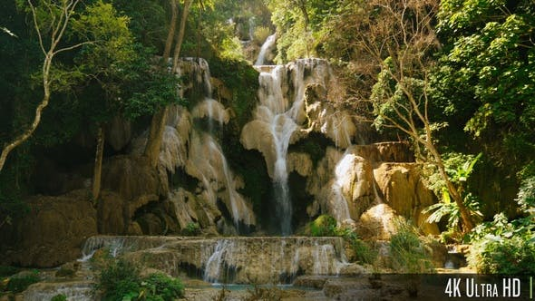 Thumbnail for 4K Large Beautiful Waterfall in Luang Prabang, Laos
