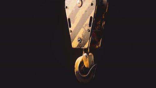 Old Lifting Metal Crane Hook