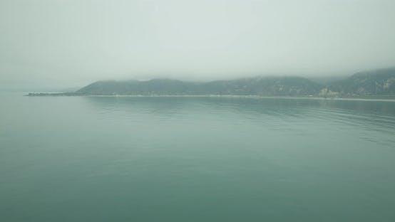 Thumbnail for Nebelig bewölkt Luftaufnahme der kalifornischen Küste, Tag