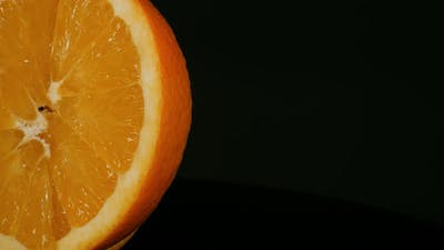 Orange on a Black Background