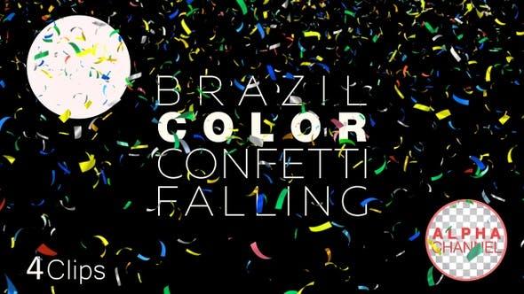 Thumbnail for Brazil Flag Colors Confetti