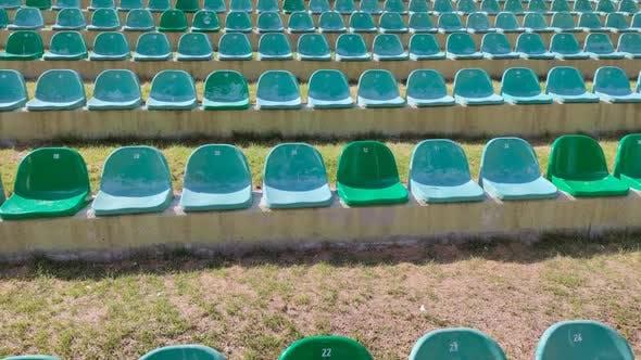 8K Empty Grandstand Seats