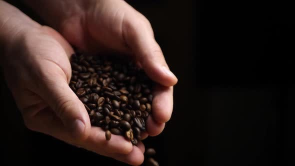 Thumbnail for Coffee Beans Falls Down From Farmer Hands