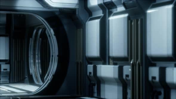 Thumbnail for 3D Rendering of Realistic Sci-fi Spaceship Corridor