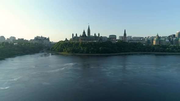 Thumbnail for Aerial view of Ottawa and Ottawa River