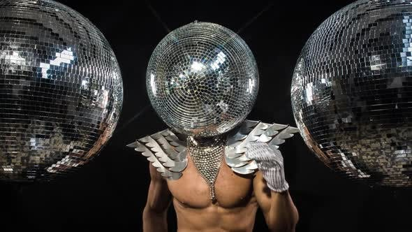 Thumbnail for Disco man sexy discoball glitterball party music muscular
