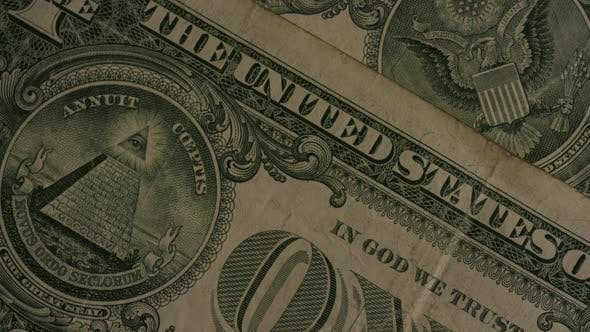 Rotating shot of American money (currency) - MONEY 471